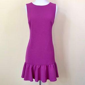 Betsey Johnson Ruffled Hem Pink Sheath Dress